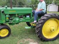 Very nice '53 JD 40 Tricycle tractor for sale. Too big