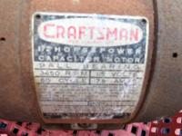 1954 1/2 HORSEPOWER CRAFTSMAN CAPACITOR MOTOR FOR SALE