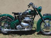 The engine was an unusual four-cylinder. V-twins and