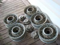 "These 15"" Kelsey-Hayes FACTORY wire wheels were used on"