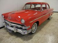 1954 Ford Customline. Factory 223 I6 engine with rare 3