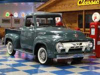 1954 Ford F100 pickup truck painted in Meadow green