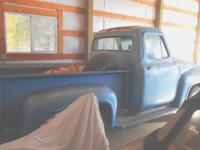 1954 Ford F100 292 3 speed, overdrive runs great.