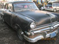 1954 Ford mainline 2 door sedan,Head is missing,