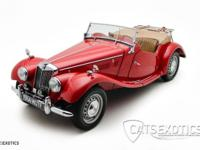 1954 MG TF Roadster finished in red over Biscuit