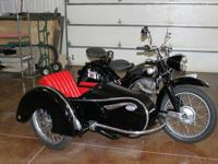 1954 NSU 250 MAX with STEIB LS200 with side carThe bike