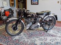 The Vincent is a NON-Matching numbers bike. The upper