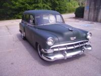 Here is a nice 1954 Chevy 150 Wagon that you can drive