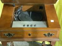 Made in 1954, this writer's desk/record player works