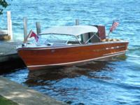 Traditional wood watercraft in exceptional condition -