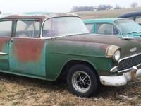 1955 Chevrolet 210 (MN) - $5,500 Car is green with a