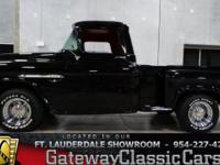 Stock #44FTL  1955 Chevrolet 3100 $49,995 Engine:327