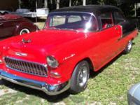 Beautiful 1955 Chevy 2 door sedan with a 350 V-8 engine