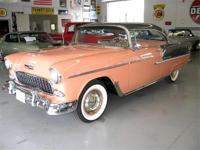 1955 Chevy Bel Air 2 Dr Hard Top. Coral & gray