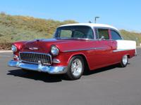 This 1955 Chevrolet Bel Air 2 Door Hardtop (Stock #