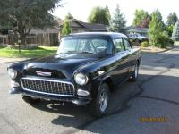 1955 Chevy 150 Business Coupe, Black Beauty Custom