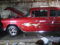 One of a kind!!!1955 2-door Chevy show car. Runs like a