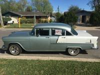 1955 Chevy Bel Air (TX) - $26,500 4 Door Seamist green