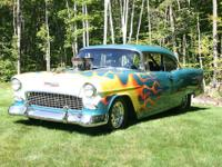 This is a special1955 Chevy Belair which has been