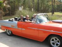 1955 Chevy Custom Convertible, 327 HP engine, tunnel