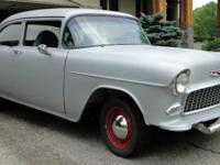 This 1955 Chevy Coupe is primed and ready for you to
