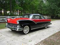 This is a beautiful 1955 Ford Crown Victoria with a