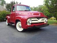 For Sale is my 1955 Ford F-100. This truck was restored
