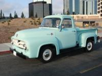 1955 Ford F-100 Truck.  My son is selling his truck