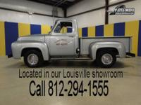 1955 Ford F-1 Pickup. This sharp cruiser is painted in