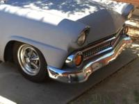 1955 Ford Fairlane front end has been rebuilt has