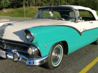 This 1955 Sunliner Convertible has a classic look with