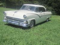 1955 Ford Fairlane Victoria ..White Paint ..Dupont Base