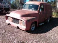 Vintage and all original panel truck Red Exterior with