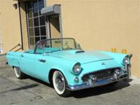 1955 Ford Thunderbird. Aqua blue with green and white