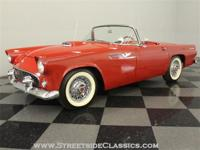 Restored in 2006, this 1955 Thunderbird shows just 1408