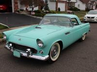 1955 Ford Thunderbird convertible. -The car was