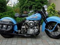 1955 Panhead in perfect condition.-Rebuild in 2010.