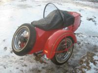 Up for sale is this 1955 Harley-Davidson sidecar. It is