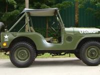 Year: 1955Interior Color: ARMY GREEN Make: JeepNumber