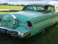 Up for sale is a 1955 Lincoln with the Continental