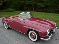 This is a 1955 Mercedes 190SL. This car has just