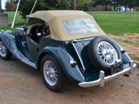 Beautiful 1955 MG TF 1500 Convertible, British Racing