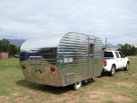 Gorgeous reconditioned, classic aluminum travel trailer