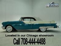 1955 Pontiac Star Chief Convertible in Turquoise Blue