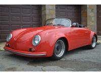1955 Porsche 356 Replica. Red with black interior. Its