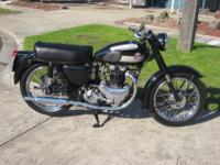 1955 Ariel Huntmaster 650 that has been perfectly