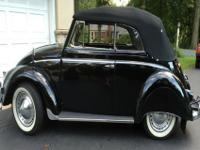 This 1955 Beetle convertible left the Karmann factory