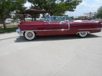 1956 Cadillac 62 Convertible ..Restored ..New Burgundy