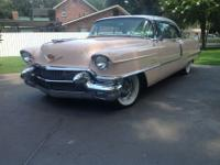 1956 PINK CADILLAC COMPLETELY RESTORED. DETAILED PAINT