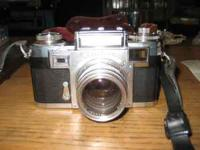 I am selling a 1956 contax camera a ziess lens, with
